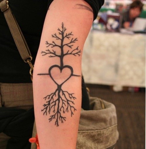 Tree Heart Tattoos Ideas
