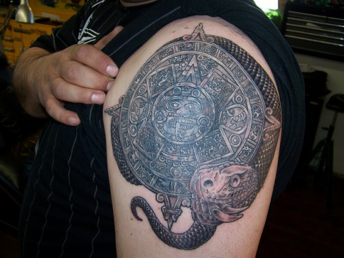 Ultimate list of cool aztec tattoo designs cssclick for Aztec armband tattoos