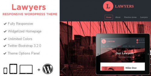 Lawyers - Responsive Business WordPress Theme