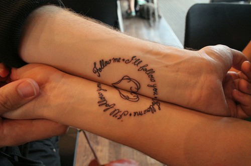 Couples Valentine Tattoos 2013