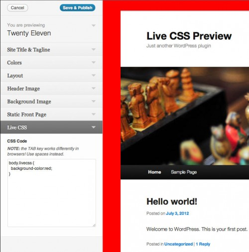 Live CSS Preview