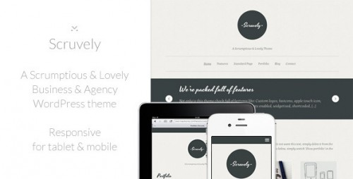 Scruvely - Typographic Creative Theme