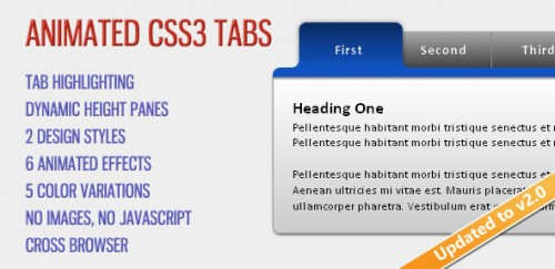 Animated CSS3 Tabs