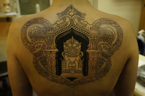 Aztec Body Art on Back