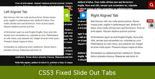 CSS3 Fixed Slide Out Tabs