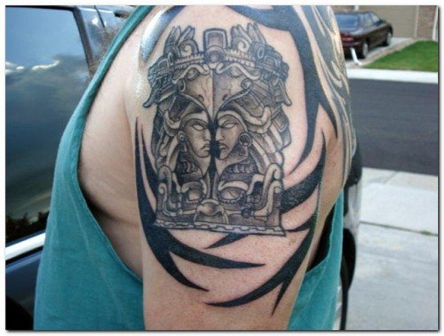 Great Aztec Tattoo on Arm