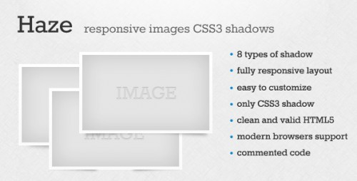 Haze - Responsive Images CSS3 Shadow