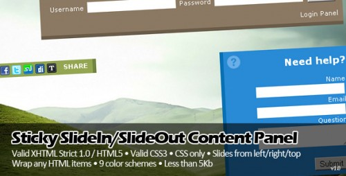 Sticky SlideIn and SlideOut Content Panel