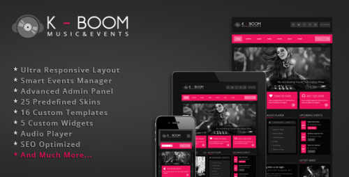 K-BOOM - Events & Music WP Theme