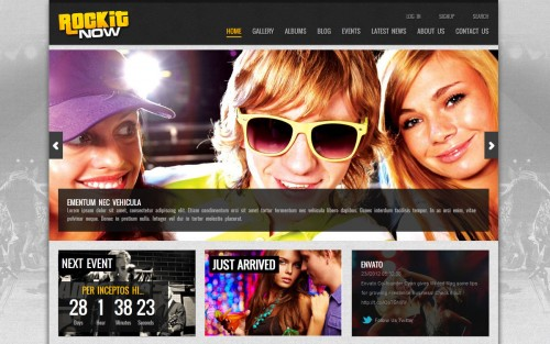 Rockit Now - Music Band WP Theme