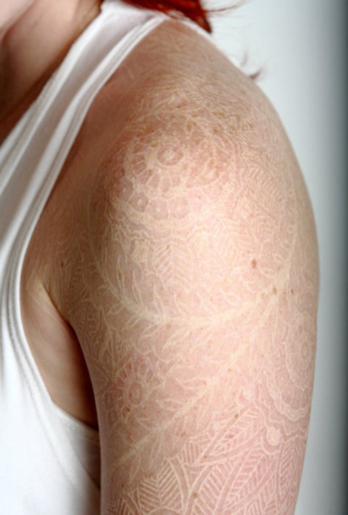White lace Tattoo Trend