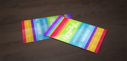 Bright and Colourful Business Card