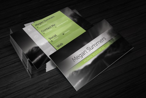 Free Business Card Template – Simple Scene