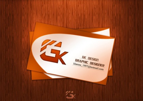 G.K Design Business Card .PSD FILE