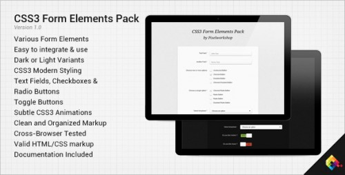 CSS3 Form Elements Pack
