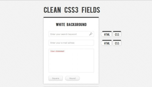 Clean CSS3 input Forms