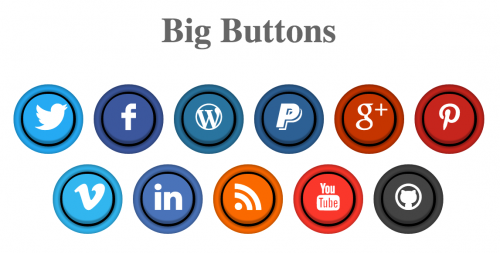 Pure CSS Social Arcade Buttons