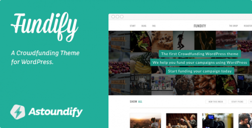 Fundify - Crowdfunding WordPress Theme