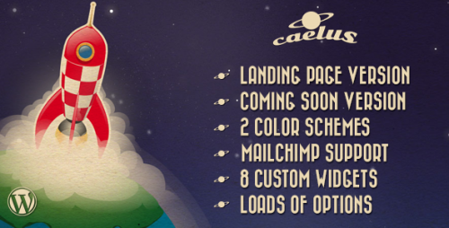 Caelus - App Landing & Coming Soon Theme