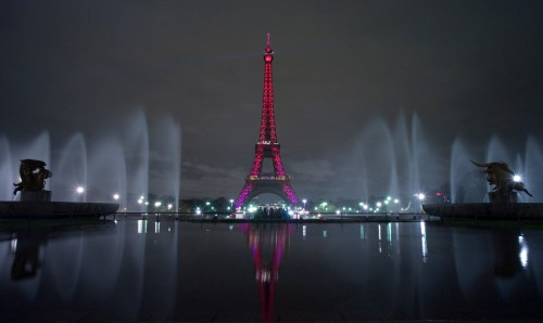 France Paris Pink Lights
