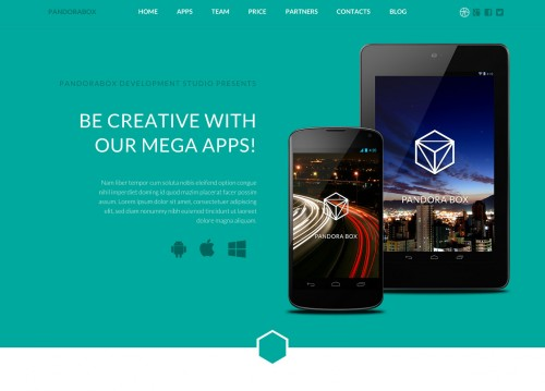 Pandora Box: Onepage WordPress Template