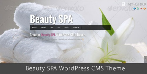 Beauty SPA - Ajaxified WordPress CMS Theme