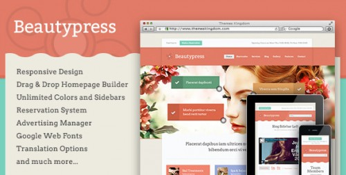 BeautyPress - Responsive WordPress Theme