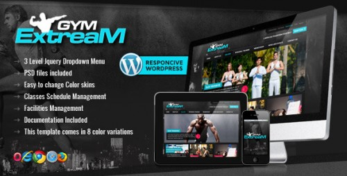 Gym Extream - Gym and Fitness WP Theme