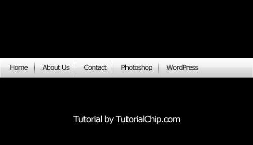 Photoshop Navigation Bar Tutorial