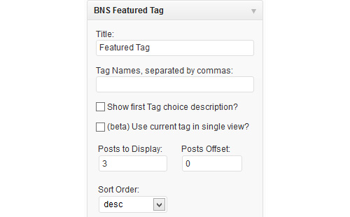 BNS Featured Tag