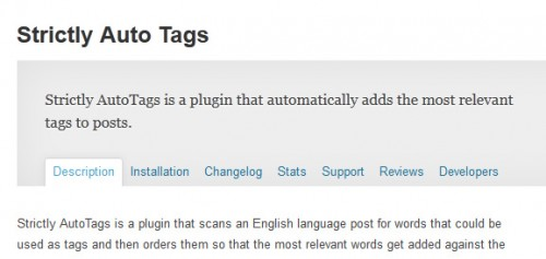 Strictly Auto Tags