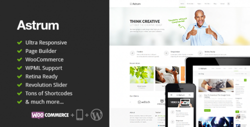 Astrum - Responsive Multi-Purpose WP Theme