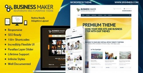 Business Maker - Retina Ready Corporate Theme