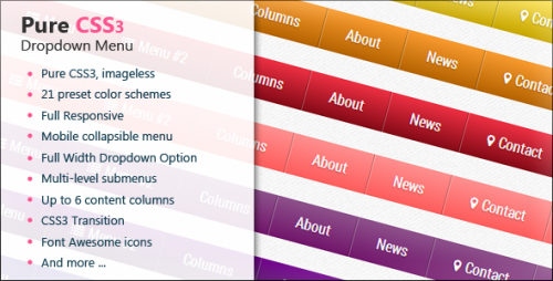 CSS3 Full Responsive Dropdown Menu