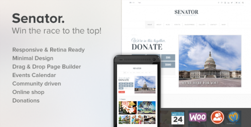 Senator: Political WordPress Theme