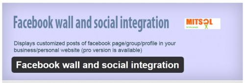 Facebook Wall and Social Integration