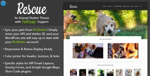 Rescue - Animal Shelter Theme + Petfinder Support Theme