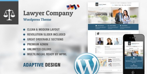 Lawyer - Multi-Purpose Adaptive WordPress Theme