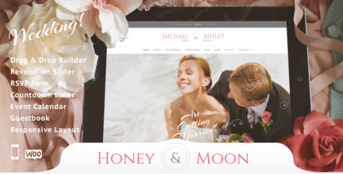 Honeymoon - Wedding Responsive Theme