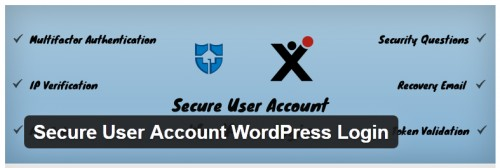 Secure User Account WordPress Login