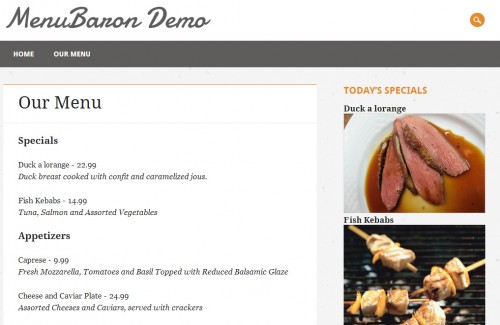 MenuBaron for WordPress