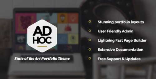 Ad Hoc Portfolio - Agency & Photography Portfolio Theme