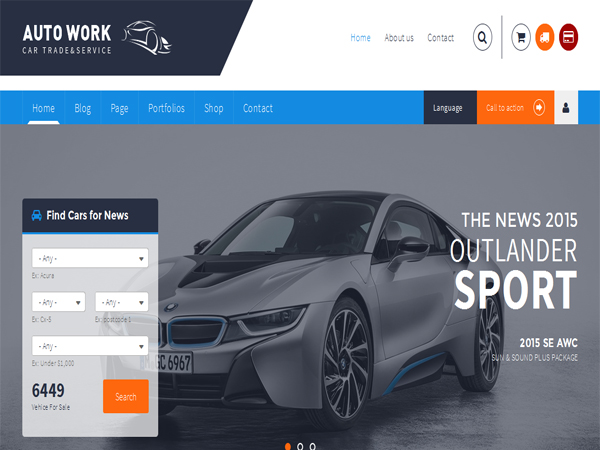 Autowork car and vehicle WordPress theme