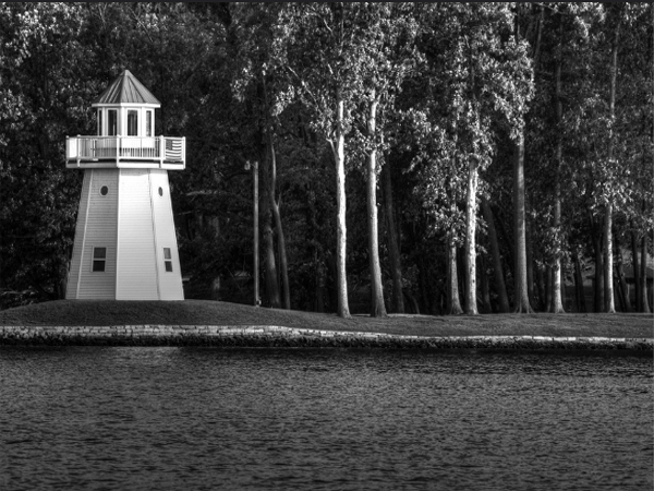 Lighthouse Black and White